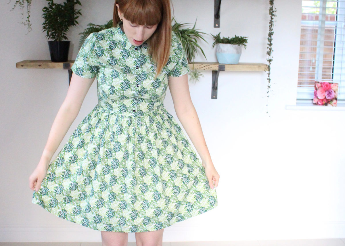 An Indoor Jungle Shirt Dress