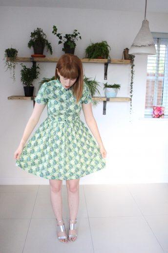 An Indoor Jungle Shirt Dress