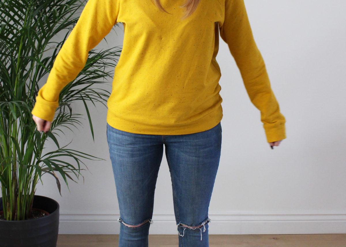 A Cosy Mustard Yellow Linden Sweatshirt