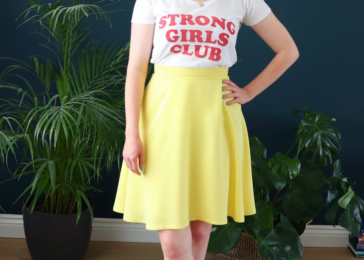 Self-Drafted Statement Yellow Skirt