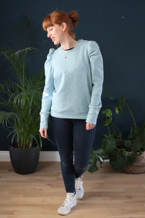 A Cosy Pastel Blue Fleeceback 'I Am Lion' Sweatshirt