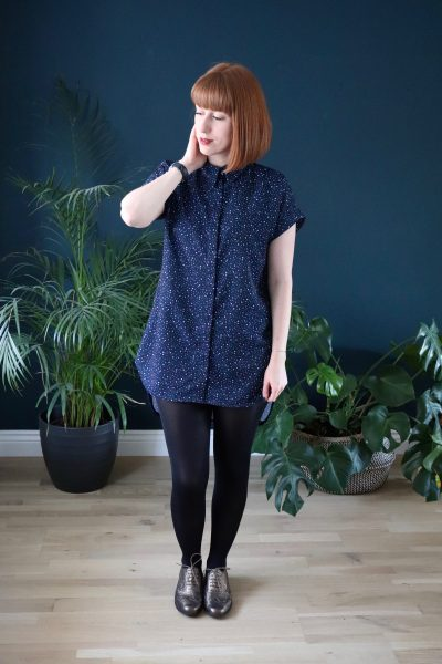 A Kalle Shirt Dress with Spoonflower Fabrics